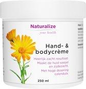 Naturalize Hand- & bodycrème (250 milliliter)