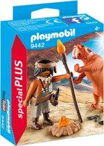 PLAYMOBIL Neanderthaler met sabeltandtijger - 9442