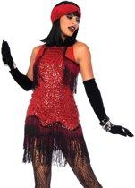 Gatsby Girl kostuum - S - Bordeaux - Leg Avenue