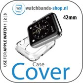42mm beschermende Case Cover Protector Apple watch 1 / 2 / 3 transparant Watchbands-shop.nl