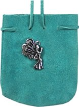 SUEDE POUCH TURQUOISE- ANGEL