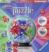 Ravensburger puzzleball PJ Masks lichtblauw - 3D Puzzel - 72 stukjes