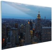 Lower Manhattan  Glas 90x60 cm - Foto print op Glas (Plexiglas wanddecoratie)