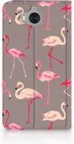Huawei Y5 | Y6 2017 Uniek Standcase Hoesje Flamingo