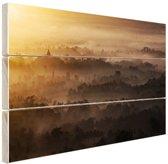 FotoCadeau.nl - Borobudur Java Indonesie Hout 80x60 cm - Foto print op Hout (Wanddecoratie)