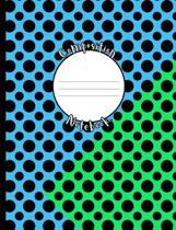 Blue Green Dot Composition Notebook