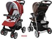 Makkelijk opvouwbare Lionelo Emma kinderwagen met luifel en veel accessoires rood