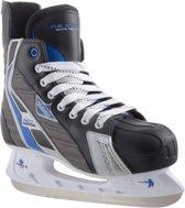 Nijdam 3386 Ijshockeyschaats - Deluxe - Maat 45 - Zwart/Grijs
