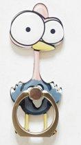 Struisvogel: Ring vinger houder / standaard voor telefoon of tablet