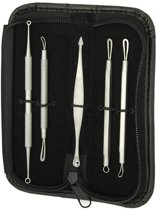 Mee-eters & Acne Verwijderen Set - RVS Blackhead Killer Comedonenlepel / Comedonendrukker / Meeeter Lepel