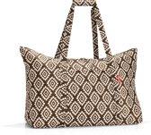 Reisenthel Mini Maxi Travelbag Reistas - Opvouwbaar - 30L - Diamonds Mocha Mokka; Zand