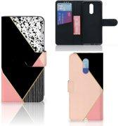 Bookcase Nokia 3.2 Zwart Roze Vormen