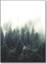 Minimalistic Wall Art - A3 Poster Forest Wilderniss Nordic