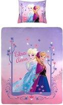 Disney Frozen - Dekbedovertrek - Eenpersoons - 140x200 cm + 1 kussensloop 60x70 cm - Pink