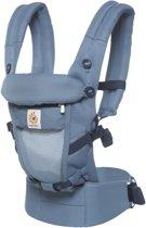 Ergobaby Adapt - Cool Air Mesh Oxford Blue - ergonomische draagzak vanaf de geboorte zonder verkleinkussen