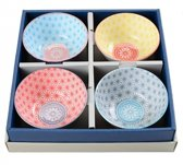 Tokyo Design Studio Star Wave Kommenset - Rond - Multi kleuren - 4 stuks