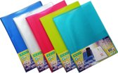 EXXO-HFP #19100 - FLEXY Presentatie A4 Show Album 10 Tassen - Assorti kleuren - 5 Stuks
