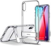 iPhone XS Max ESR Military Grade gecertificeerd hoesje met standaard, extreem sterk & duurzaam materiaal – Simplace – Transparant & Flexibele TPU rubberen achterkant