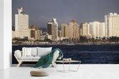 Fotobehang vinyl - Prachtige afbeelding van de kustlijn van Durban breedte 400 cm x hoogte 240 cm - Foto print op behang (in 7 formaten beschikbaar)