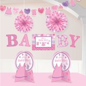 Decoration Kit Shower With Love - Girl 10 Pieces