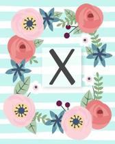 X: Diario Agenda con copertina Monogramma. Date da Ricordare, Obiettivi, Priorita' e Spazio Appunti per i tuoi Pensieri!