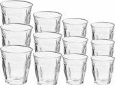 Drinkglazen/waterglazen Picardie set transparant 250/310 ml - 12-delig - koffie/thee glazen