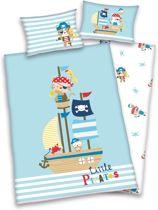 Baby Best Dekbedset Little Pirates 100x135cm, ledikant dekbedovertrek