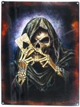 Wandbord - Spades Skull -30x40cm-