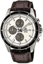 Casio Edifice EFR-526L-7AVUEF - Horloge - 41 mm - Leer - Bruin