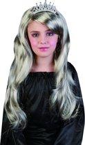 Zilveren prinsessenpruik voor meisjes - Verkleedpruik