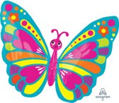 Junior Shape Happy Spring Butterfly Foil Balloon S50 packed 66x53 cm