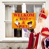 Gevel vlag welkom Sint en Piet - 90 x 60 cm - Sinterklaas versiering