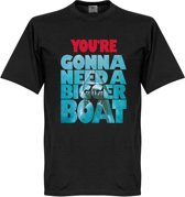 You're Going To Need A Bigger Boat Jaws T-Shirt - Zwart