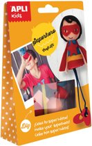 12x Apli Kids craft kit, op blister, superheld