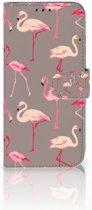 Honor 10 Lite Uniek Boekhoesje Flamingo