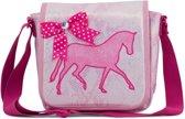 Zebra Trends - Schoudertas - Kinderen - Roze;Wit