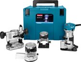 Makita Boven-/Kantenfrees RT0700CX3J - 230 V - In Mbox