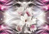 Fotobehang Flowers Pattern Abstract   M - 104cm x 70.5cm   130g/m2 Vlies