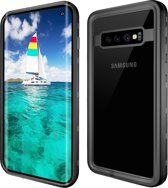 Samsung Galaxy S10+ / Galaxy S10+ / Galaxy S10 Plus  – Redpepper Military Grade & IP68 gecertificeerd hoesje, voor extreme sports – waterdicht (zwembad / strand vakantie), lichtgewicht en extreme sterke bescherming – DOT+ series – Zwart & transparant