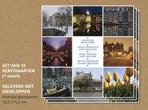 Set van 10 luxe kerstkaarten Amsterdam