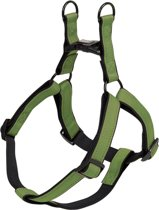 Nobby hondentuig classic reflect - groen - l - buikband 60/86 cm - breedte 25 mm