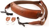 4V Design Lusso Large Neck Strap Tuscany Leather Brown/Cyan