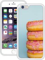 Case Creatives Telefoonhoesje Donuts - iPhone 6 6s   Wit - Handgemaakt