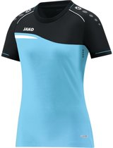 Jako Competition 2.0 Dames T-Shirt - Voetbalshirts  - blauw licht - 44