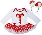 Minnie Mouse, minnie mouse verkleedset, verjaardag jurk 1 jaar, eerste verjaardag baby (80/86)