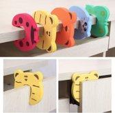 5 STUKS | Deurstoppers Schuim voor kinderen | Veiligheids deurstopper kinderen / baby's - Klem bescherming - Vinger bescherming - multicolour dieren