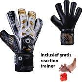Elite - Combat F - Keepershandschoenen - inclusief Reaction trainer - maat 6 - voetbal keepershandschoenen - keepershandschoen - Goalkeeper handschoen