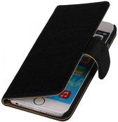 Echt lederen wallet hoes iPhone 7 / 8 zwart