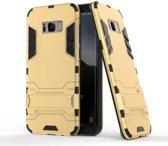 GSMWise - Samsung Galaxy S8 - Ultra Hybride Hard Case met standaard - Goud
