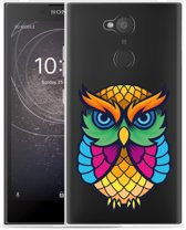 Sony Xperia L2 Hoesje Colorful Owl Artwork